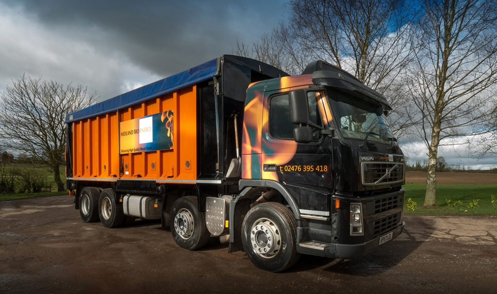 Image of Midland Bio Energy Bulk Wood Pellet Lorry