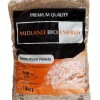 Midland Bio Energy 15kg Premium Quality Bagged Wood Pellets.