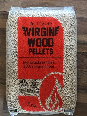 Virign Wood Pellets 15kg bag.